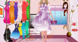 Modelka w sukience
