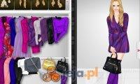 Purpurowe ubrania