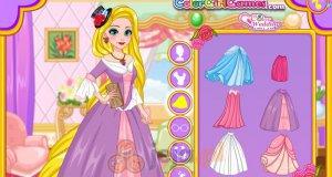 Roszpunka, córeczka i sukienki
