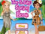 Zoe i Lily na wiosennym urlopie