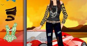 Kobieta i sportowe auto