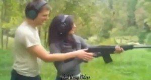 Kobieta + broń = niebezpieczeństwo