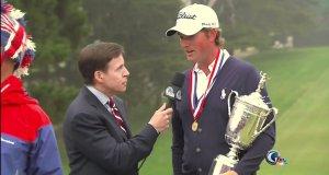"""""""Wielki ptak"""" przerywa wywiad z mistrzem golfowym"""
