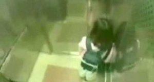 Napad w windzie