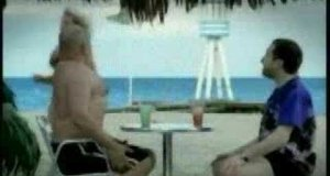 Grubas na plaży