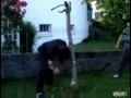 Rosjanin ścina drzewo