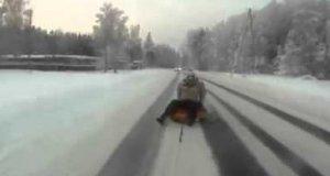 Niebezpieczna, aczkolwiek wspaniała jazda po śniegu
