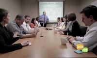 Trudna konferencja w biurze