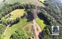 Upadek masztu z perspektywy drona