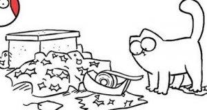 Kot Simona - taśma klejąca