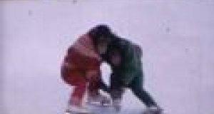 Małpy tańczą na lodzie