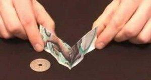 Sztuczka z banknotem i monetą
