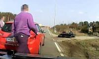 Kompilacja wypadków na polskich drogach