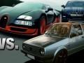 VW Golf vs Nissan GTR vs Bugatti Veyron