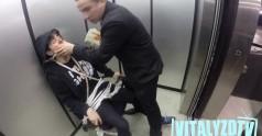 Straszny żart w windzie
