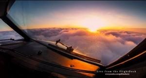 Świat zza kokpitu samolotu