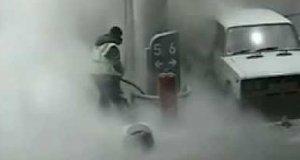 Podwójna porażka na stacji benzynowej