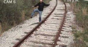 Uderzony przez pociąg
