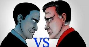 Obama vs Romney - halloweenowa kampania uliczna