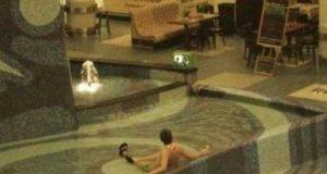 Maniak z telewizorem w fontannie