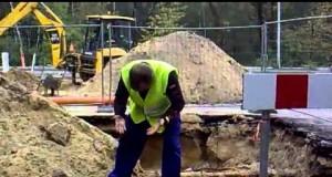 Atak węża na polskiego robotnika