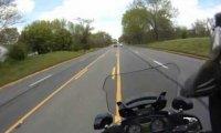 Policyjny pościg na motorze