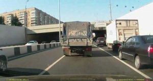 Pijany Rosjanin na drodze