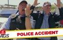 Ukryta kamera - policjant strzela we własny palec