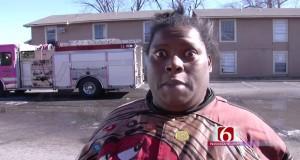 Reportaż o płonącym budynku i bezbłędna relacja świadka