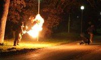 Psychol z miotaczem ognia, atakuje przechodniów