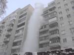 Gorąca woda wylana z balkonu, w Nowosybirsku