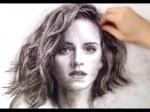Emma Watson naszkicowana ołowkiem
