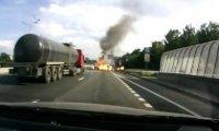 Wypadek auta przewożącego butle gazowe