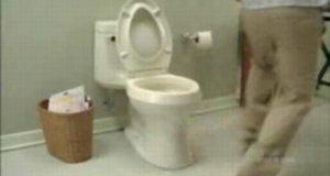 Przepychanie toalety