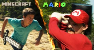 Minecraft kontra Super Mario Bros