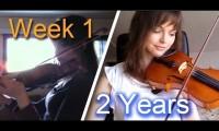 Dwa lata nauki gry na skrzypcach