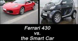 Smart vs Ferrari F430