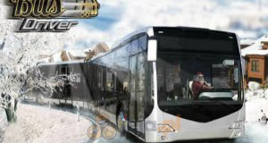 Kierowca zimowego autobusu