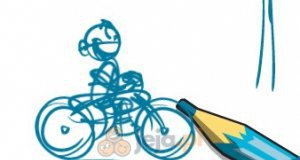 Rysunkowy rower