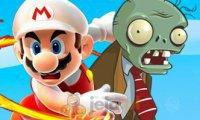 Mario strzela do zombiaków