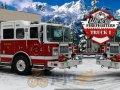 Zimowy kierowca straży pożarnej