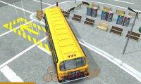 Parkowanie amerykańskim autobusem 3D