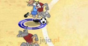 Piłka nożna z królikiem Bugsem