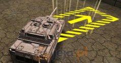 Trójwymiarowe parkowanie: Czołg bojowy
