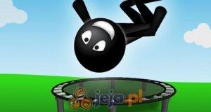 Stickman na trampolinie