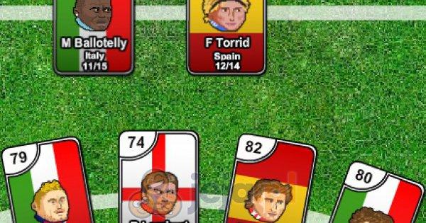 Piłka nożna głowami: Karciana jedenastka