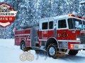 Zimowy kierowca straży pożarnej 2