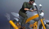 Triki na motorze 3D