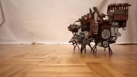 Steampunkowy robot z klocków Lego