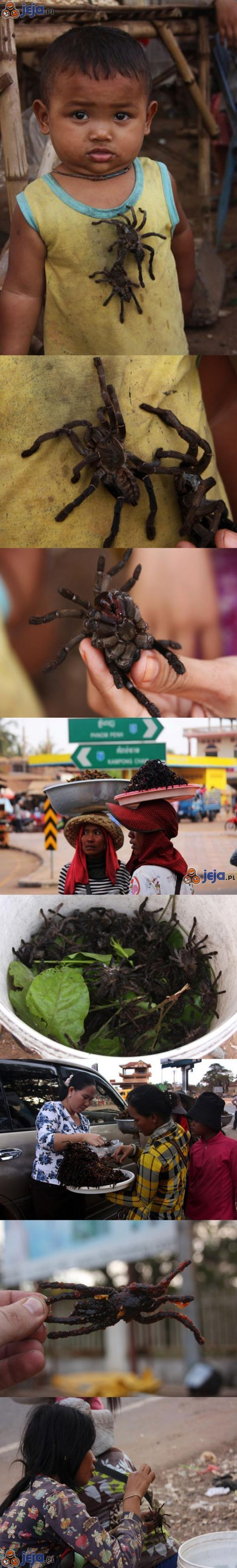 Lokalne przekąski w Kambodży...
